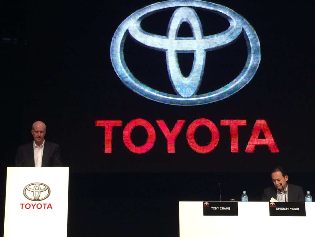Tony Cramb at this week's Toyota Corolla sedan launch.