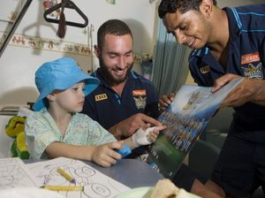 Titans players score points with sick kids