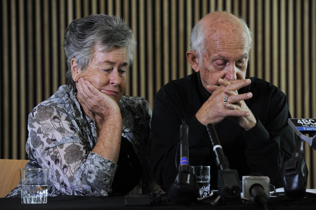 The parents of Peter Greste, Juris and Loris Greste