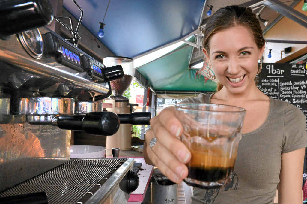 DRINK UP: Jade Leiman serves up a wonderful coffee – every time.