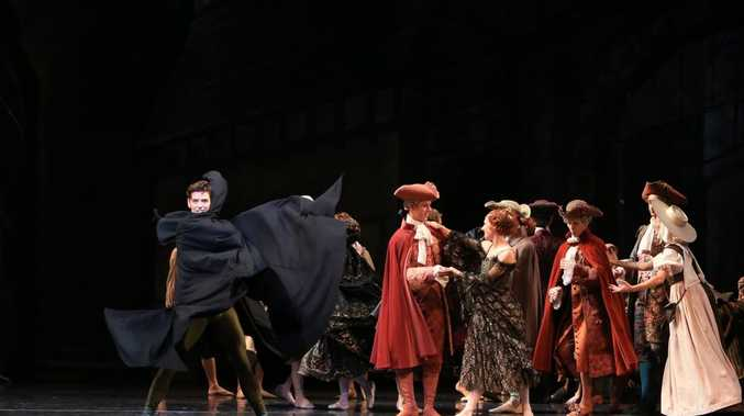 Andrew Killian, as Manon's brother Lescaut, and artists of The Australian Ballet in Manon, The Australian Ballet 2014 Photo: Contributed