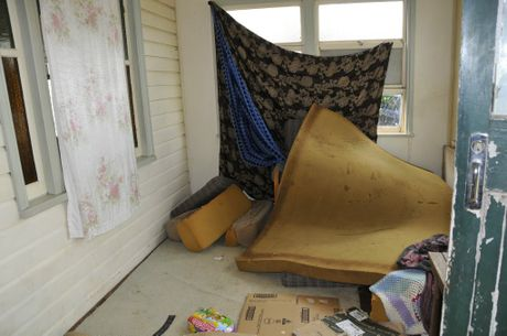 Joe Courtes' North Toowoomba rental property has been trashed.