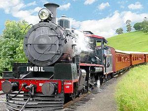 Steam train rattles into brighter future