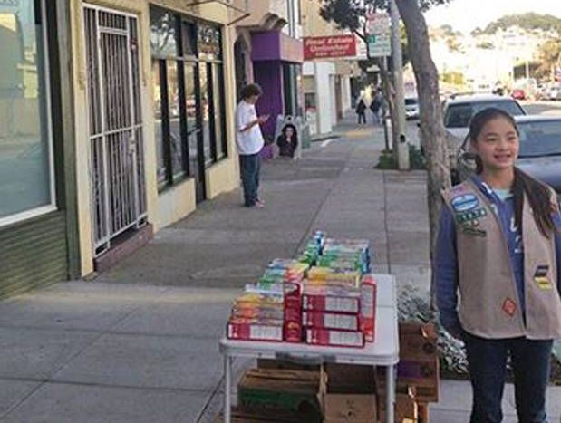 Danielle Lei had to call for back up Girl Scout cookies after selling out of her first batch in just 45 minutes