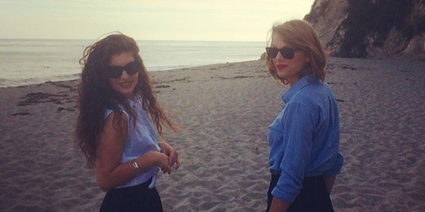 Lorde and Taylor Swift pictured together at Malibu last month.