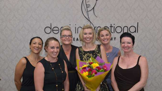 Belinda Spiteri, Danielle Birch, Sharon Victory, Ann Donnarumma, Cindy Green and Julie Watt at Demi International Beauty Academy.