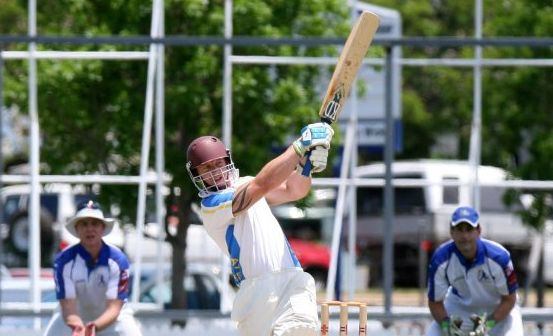 GOOD YEAR: ATW's Keegan Lankowski batting during the Sugar Cities Grand Final at Salter Oval, Lankowski has been one of the club's leading players this season. Photo: Mike Knott / NewsMail