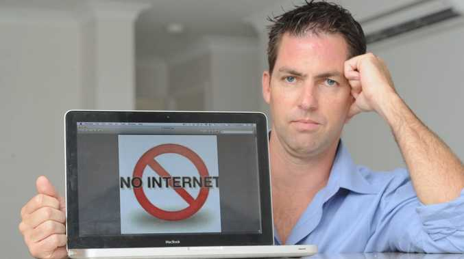Neil Coningham is unable to access the internet at his Urraween home.