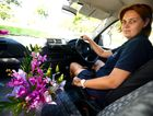 Kelly Webber is a florist delivery driver. Photo Allan Reinikka / The Morning Bulletin