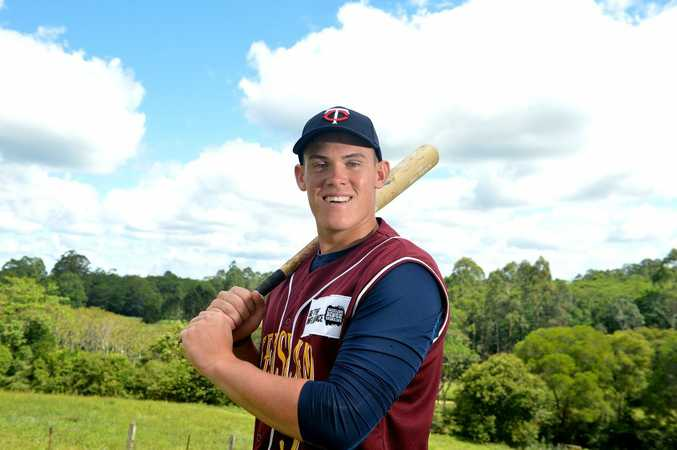 18 year old Jack Barrie has been signed with the Minnesota Twins baseball team in America. Photo: Warren Lynam / Sunshine Coast Daily