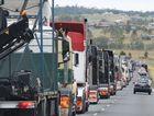 Trucks in the annual LOTH convoy (Feb 22, 2014) head down the Warrego Hwy to Gatton. Photo Sean Owens / Big Rigs