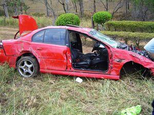 Man taken to hospital after car rolls