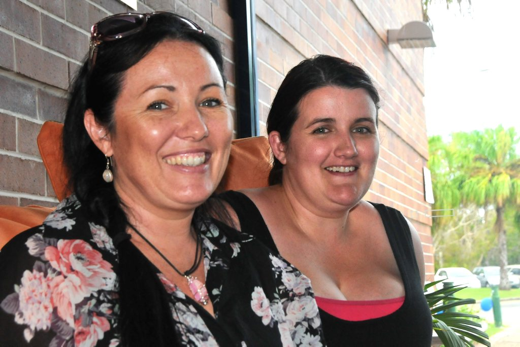 RAPT TO BE AT UNI: Childhood Education students Carmon Elsley and Amanda Thornton at CQUni orientation on Tuesday Photo Nicky Moffat / The Observer