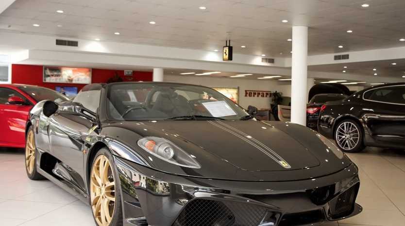 The rare 2009 Ferrari 430 Scuderia Spider 16M.