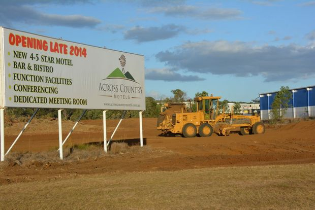 MOTEL MOVEMENT: Work has begun at the site of the first building for new motel chain Across Country Motels - set to open in Kingaroy by the end of the year. Photo Helen Spelitis / South Burnett Times