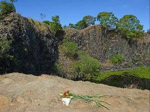 Flowers for Brendan as quarry prepares to build fence