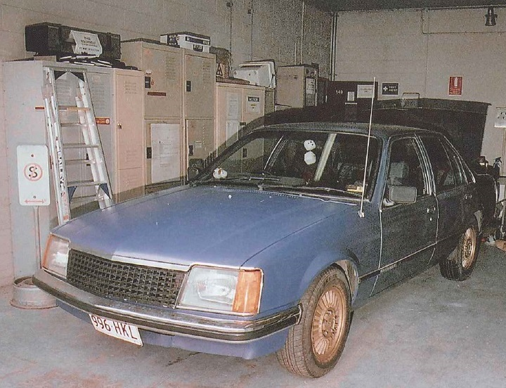 A photograph of the blue Commodore owned by Douglas Jackway at the time Daniel Morcombe disappeared in 2003.