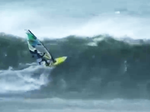 Windsurfing through hurricane conditions