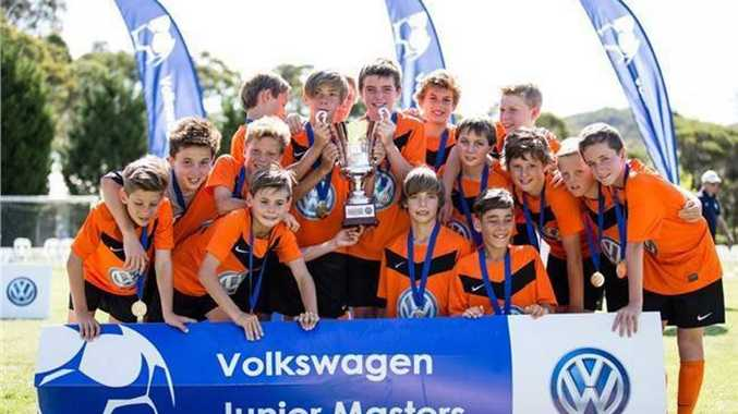 The Buderim Wanderers Under 12 team which won the Volkswagen Australia Cup in Sydney in October 2013 and is now playing in the International Volkswagen Cup in Rome in May 2014 Photo Contributed