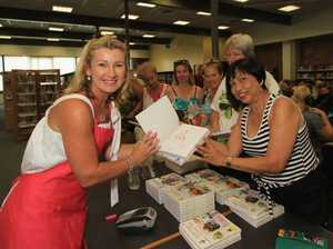Cookbook author attracts fans at library talks