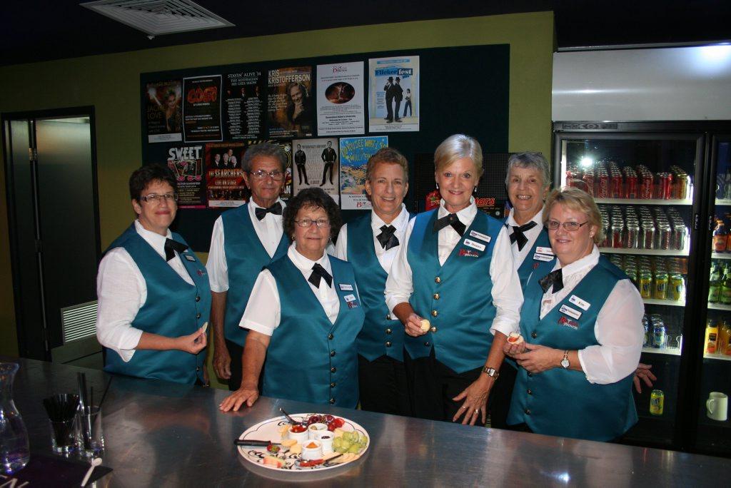 Friendly volunteers serve patrons at the Brolga Theatre.