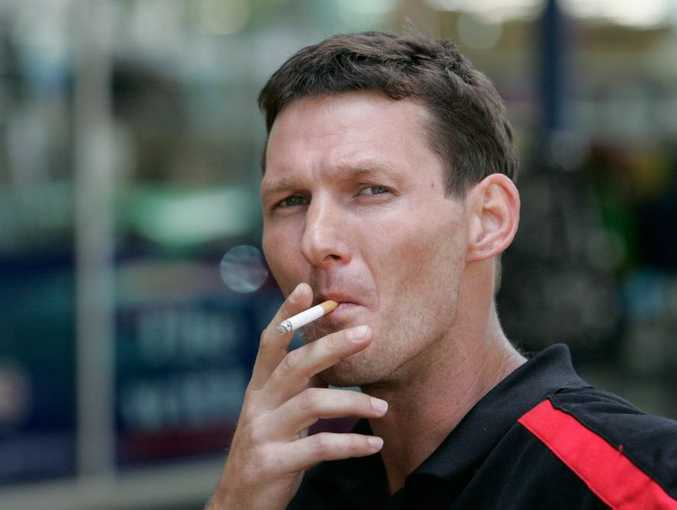 Alan Cranston thinks smokers are being unfairly treated when it comes to increasing taxes on tobacco considering the affect alcohol and obesity have on the health system. Photo: Chris Ison / The Morning Bulletin