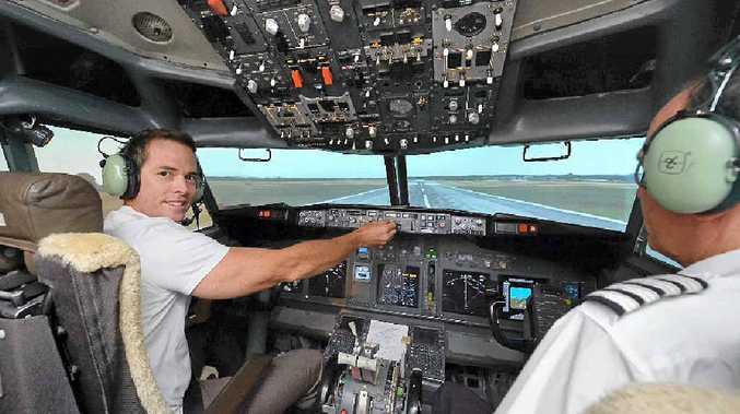 """ATTENTION PLEASE: Flight Centre """"Captain"""" Richard Klinge has been a regular visitor to Flightsim Aviation Simulator centre, Noosaville."""