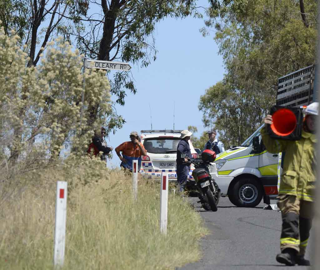 A man in his 50s has been killed after the motorbike he was riding collided with a truck south of Toowoomba.