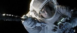George Clooney in a scene from the movie Gravity.