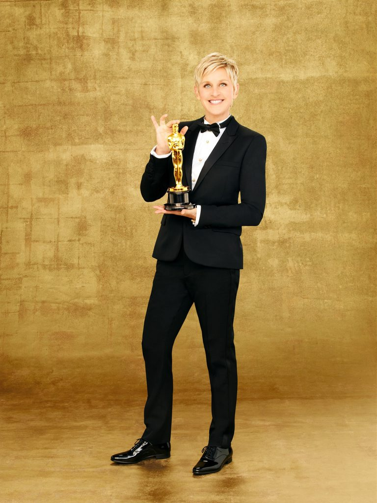 Ellen DeGeneres returns to host the Oscars for a second time. Supplied by Channel 9/WIN. Please credit photo to ABC/Andrew Eccles.