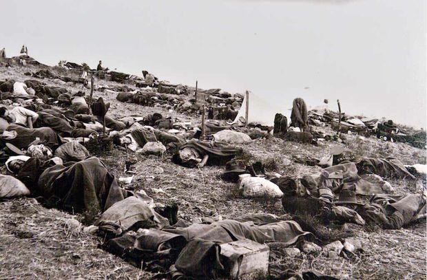 STARK LANDSCAPE: The horrors of war.