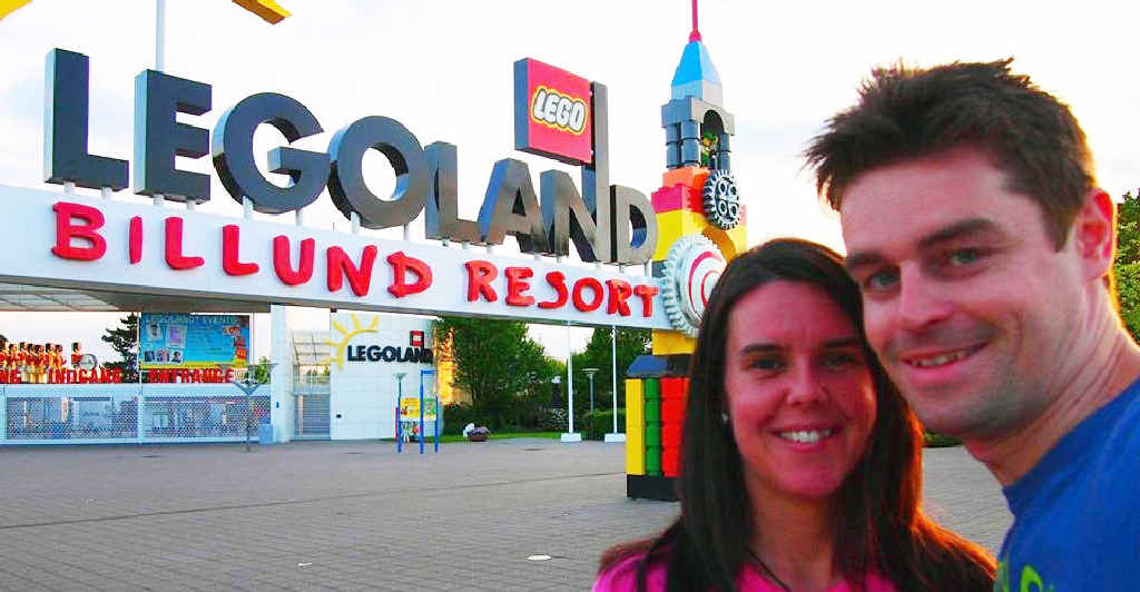 LEGO TRAVELLERS: Craig McCartney and Lindsey Haggerty.