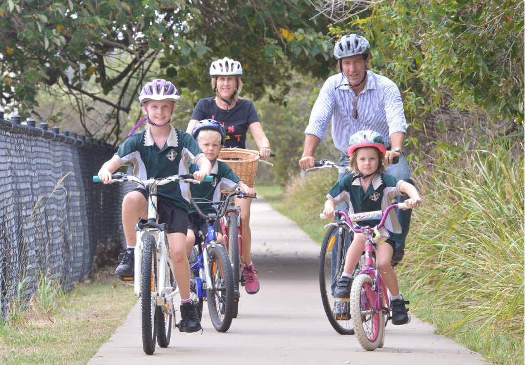 FINAL SAY: Fisher MP Mal Brough, pictured campaigning for bike safety, feels vindicated by a full bench of the Federal Court ruling regarding the James Ashby-Peter Slipper affair.