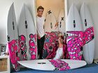 Julian surfs for breast cancer research
