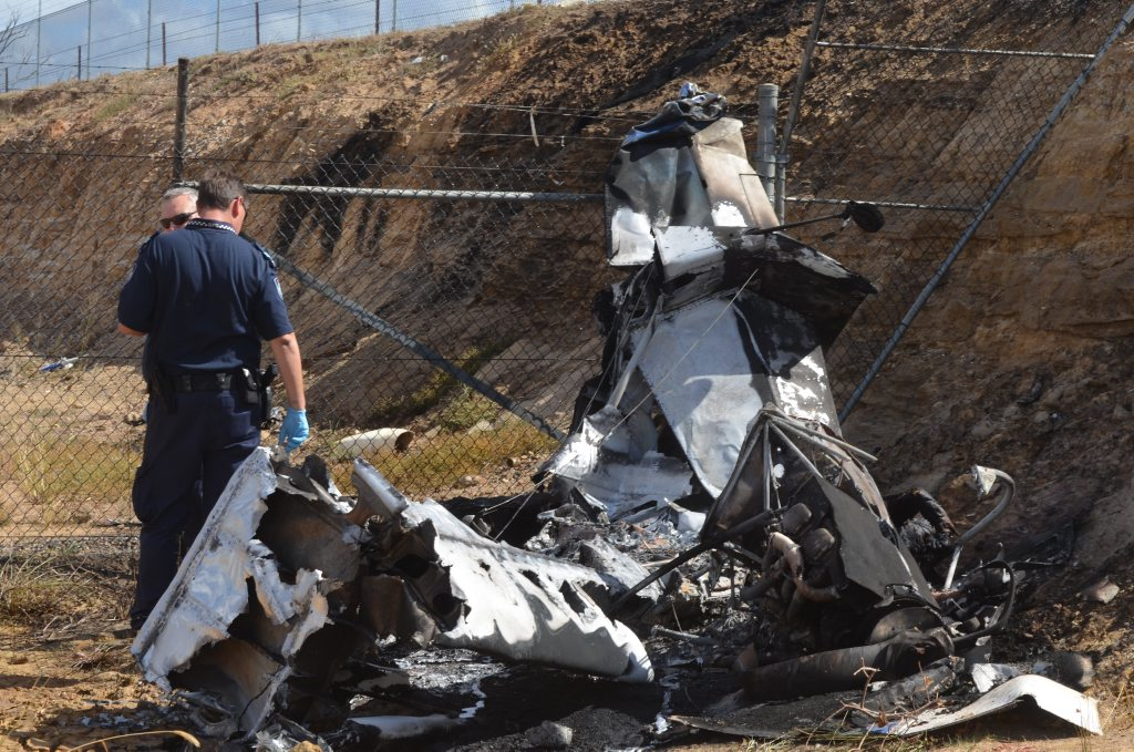 Police are on the scene of a fatal plane crash at Gatton this morning.