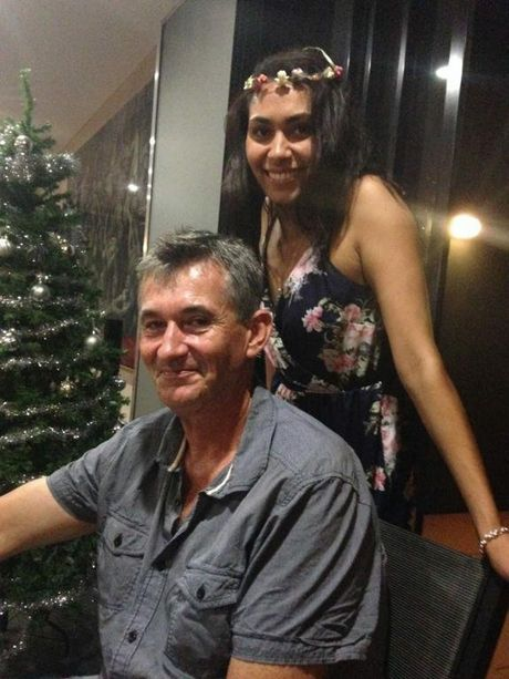 John Stortelder, pictured here with daughter Alanah, was killed in a light aircraft crash at Gatton Airfield this morning.
