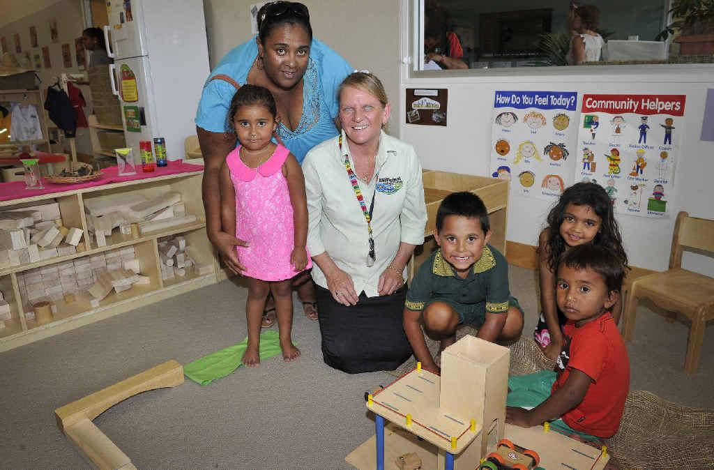 SENSE OF IDENTITY: Lenkunyar Roberts-Hickling, Nimili Roberts, Tanya Stuart, Director of the Ballina Aboriginal Child and Family Centre in West Ballina, Laurence Anderson Jr, Kiesha Skimmings and Mue-Ri Roberts.