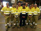 Ergon Energy welcomes seven new apprentices to Fraser Coast sites - (back from left) Joshua Anderson, Tim Vagias, Lindsay Harwood and Tom Zoldak (front row) facilitator Glen Bau, Adam Barns, Marlon Butterworth, Warwick Wixon and Ken Simpson.
