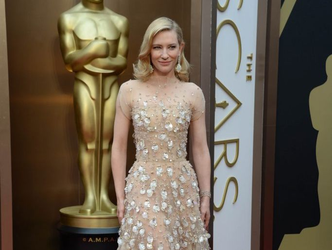 Nominee for Best Actress Cate Blanchett arrives on the red carpet for the 86th Academy Awards in Hollywood, California.