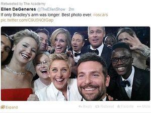 Ellen's epic Oscars selfie sends Twitter into meltdown