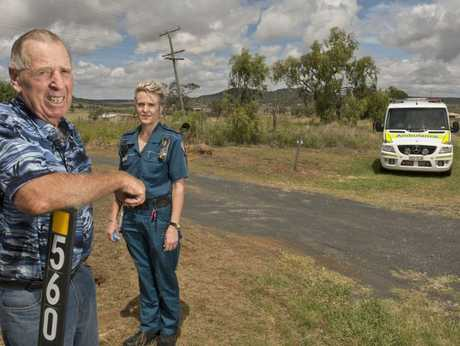 Rural landowner Hec Sander and advanced care paramedic Jo Crooks.