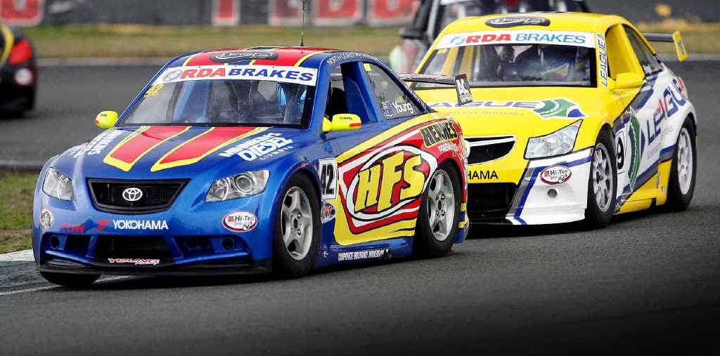 GREAT START: Wollongbar driver Trent Young is in the lead after an impressive win in the opening round of the Aussie Racing Car Series in Adelaide.