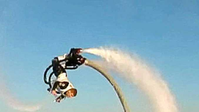 ON THE FLY: This flyboarding stunt is something that operators want to bring to Noosa.