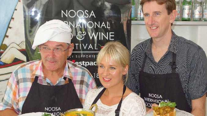 FINALISTS: Coast home cooks – Leon Naus, Grace Mora and the winner, Brett Holmes.