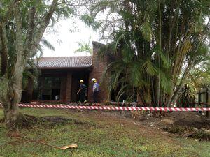 Woman, children escape fire which destroys Coast home