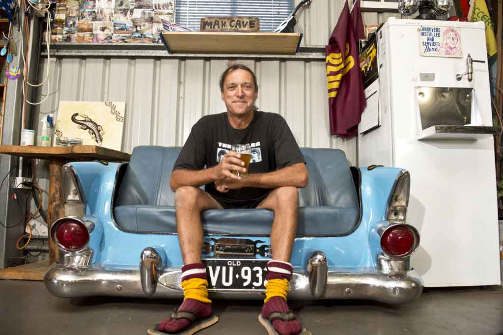 Toowoomba's Wes Haddon loves his man cave.