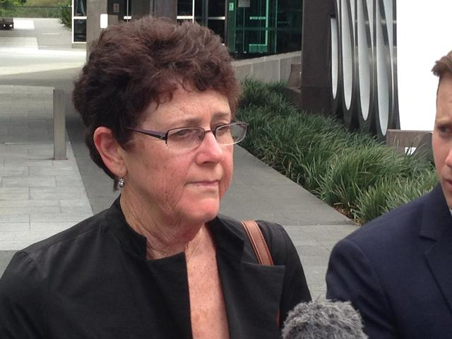 Catherine Long outside the Royal Commission into Institutional Responses to Child Sexual Abuse in Brisbane on February 17.