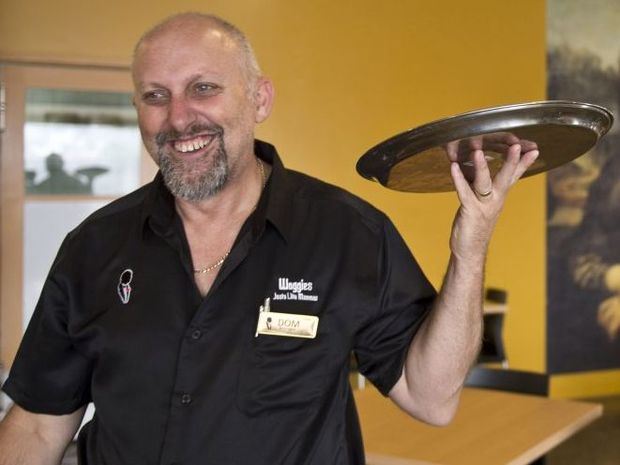 Woggies restaurant owner Dom Rognoni is busy preparing for his eatery's grand opening