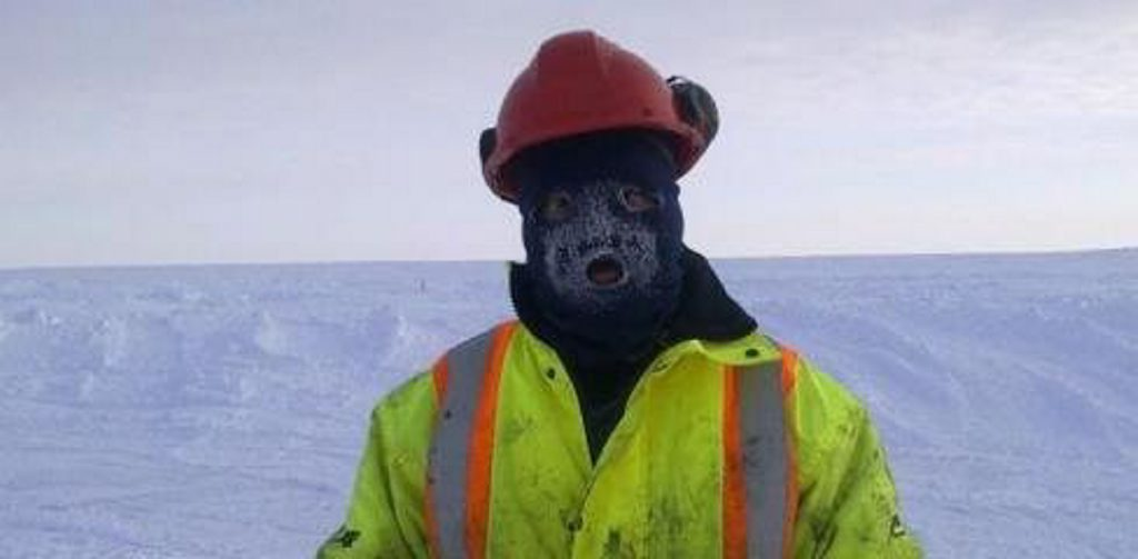 Toowoomba's Rhys Finch works in the Arctic as an exploration diamond driller.