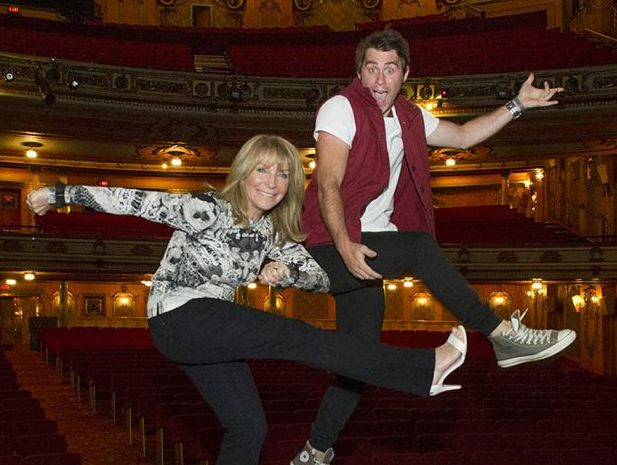 Choreographer Bonnie Lythgoe with Jimmy Rees, who plays Muddles in Lythoe's upcoming pantomime Snow White.